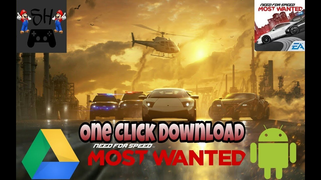 How to download Need For speed most wanted Apk-Data Android game free of  cost 2018 /SH The Gamer