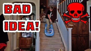 BOOGIE BOARD VS STAIRS (CRAZY KID)