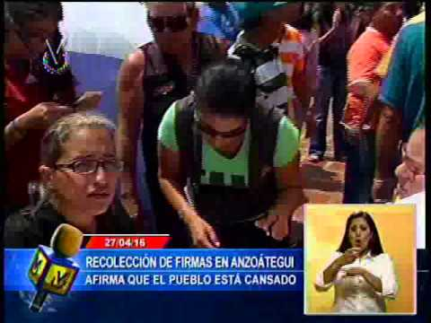 Diputado Marco Aurelio Quiñones inició la recolección de firmas en Anzoátegui para activar el revoca