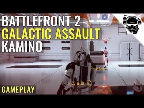Star Wars Battlefront 2 - KAMINO - GALACTIC ASSAULT GAMEPLAY