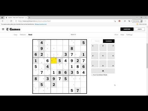 Hard Sudoku New York Times April 16