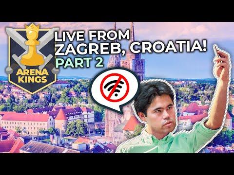 Arena Kings From Zagreb! Hotel Wifi Connection Vs. Hikaru Nakamura   Part 2