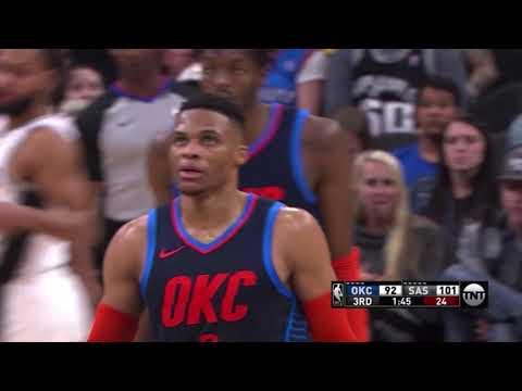 Russell Westbrook NBA Career High 24 Assists vs. Spurs [10.01.19.]