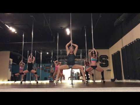 Heathens - Twenty One Pilots Beginner Pole Dance Routine 10-18-16