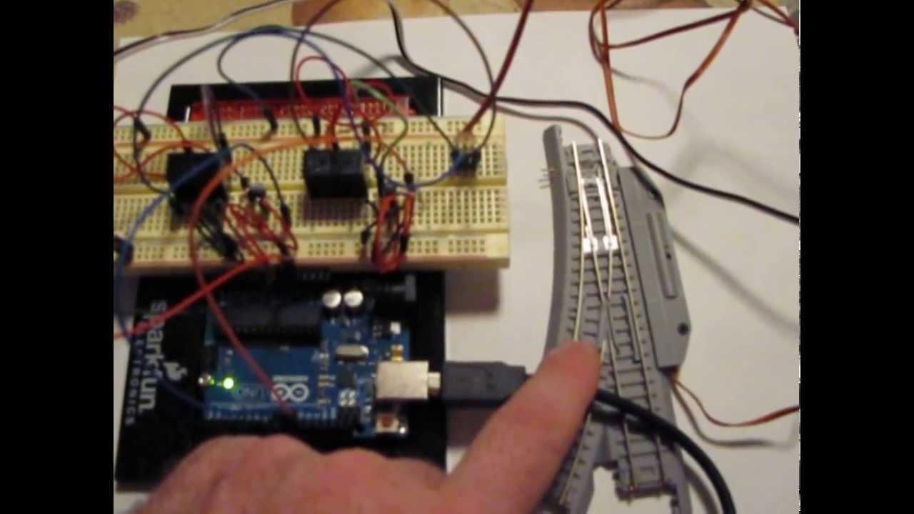 Arduino control of model railroad turnouts