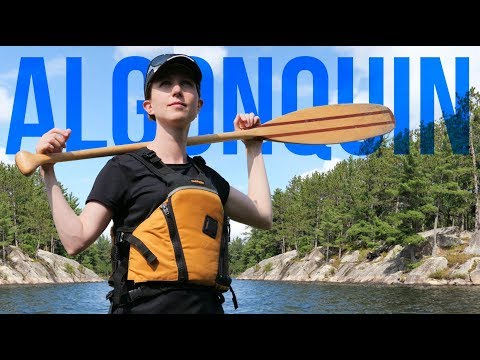THE MOST EPIC CAMPSITE WE'VE EVER BEEN TO! - DAYS 1 & 2 - SOUTH ALGONQUIN PARK CANOE TRIP! (4K)