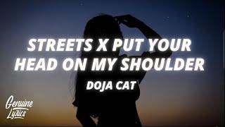Streets X Put Your Head On My Shoulder (tiktok Remix) (Lyrics) silhouette challenge