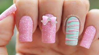 Decoracion de uñas caramelo - Sugar spun nail art