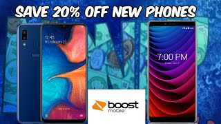 Boost Mobile 20% Off New Phones For All Customers// Samsung A10e/ CoolPad Legacy and More!