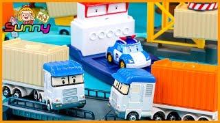 장난감TV 로보카 폴리 테리의 항구 플레이세트 화물 컨테이너 나르기 놀이 장난감 애니메이션 동영상
