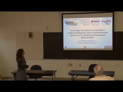 GeoPRISMS DLP - Beatrice Magnani Technical Lecture at Marshall University October 2015