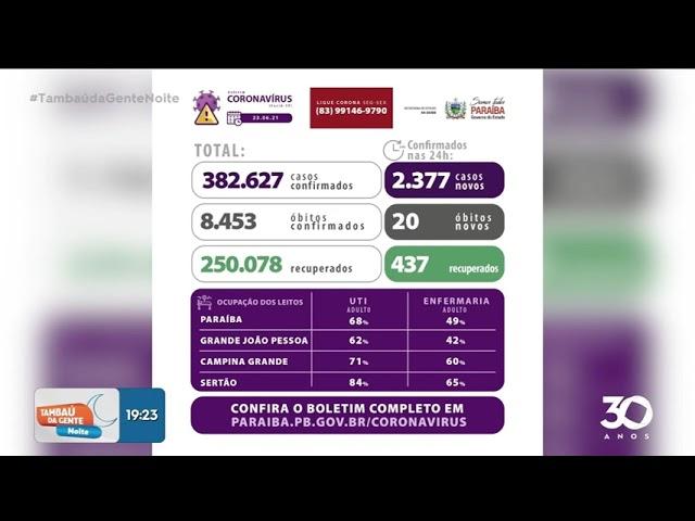 Boletim COVID-19 - 23-06-2021 -Tambaú da Gente Noite
