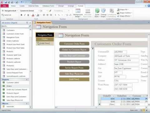 Microsoft Access 2010 - Introducing Forms and automation of e-mails