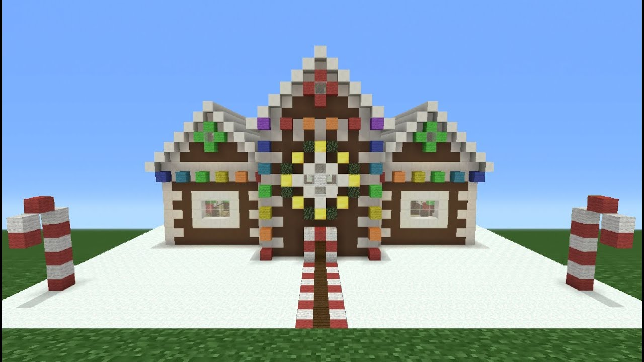 Minecraft Christmas Houses.Minecraft Tutorial How To Make A Christmas Themed House 2 Now With Added Christmas