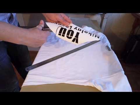 как сделать футболку и надписью