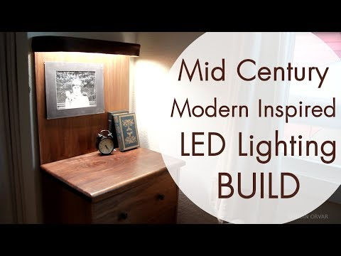 Mid Century Modern Furniture W/ LED Lighting