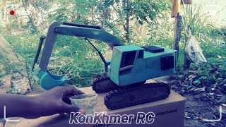 DIY, Diy excavator, RC excavator, Make RC truck mini excavator easy using PVC by KonKhmer RC