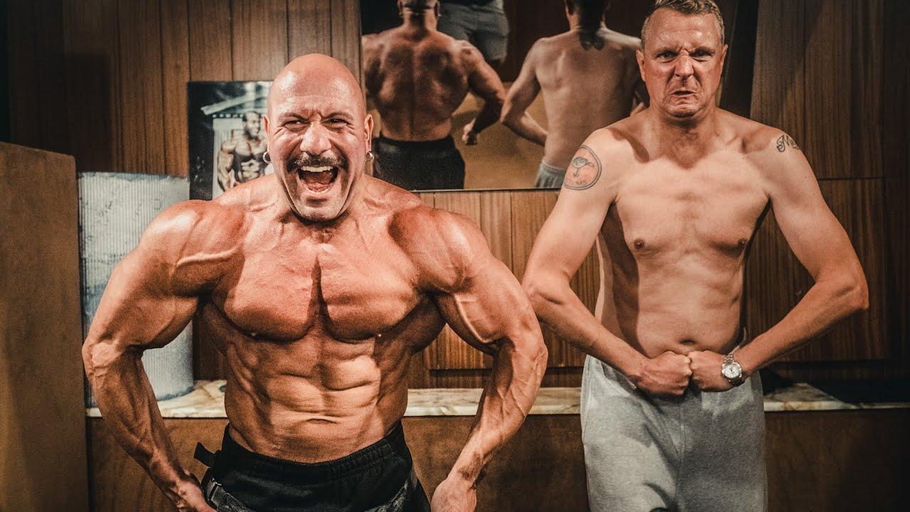 3 Bodybuilder knechten diesen Lauch!