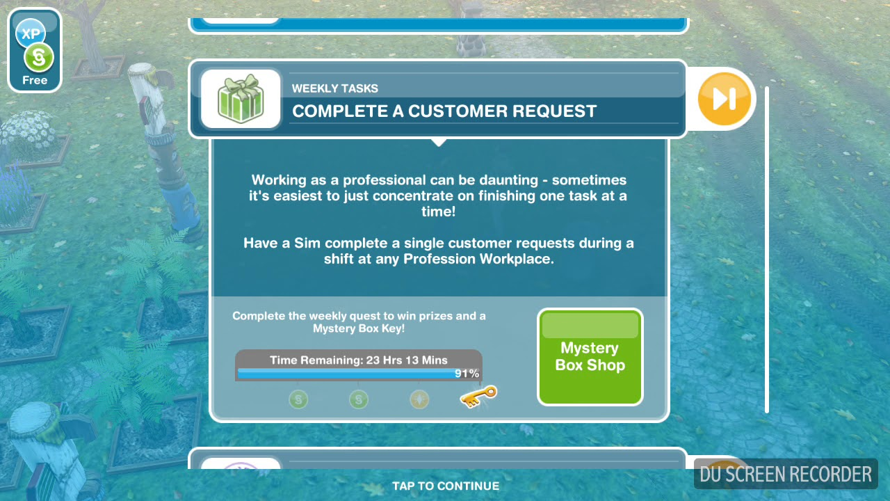 the sims freeplay complete a costumer request weekly task youtube