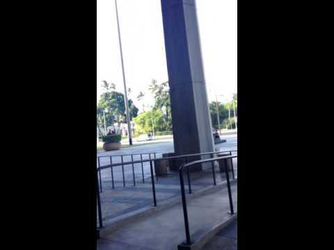 Skateboarding at Hawaii State Capitol