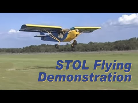 STOL short takeoff and landing flying demonstration