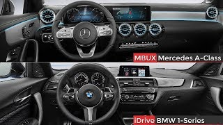 2019 Mercedes A Class Vs BMW 1 Series ► Interior Design & Features ( MBUX Vs IDrive)