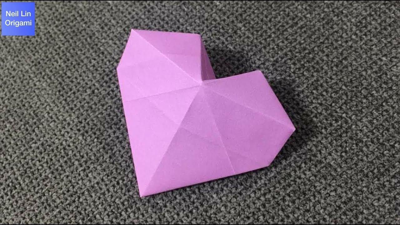 3D立體愛心摺紙教學 - 如何製作一個漂亮的心形 手工折紙 - YouTube