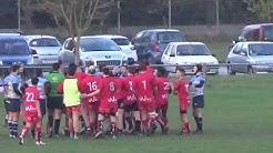 Bagarre générale de rugby entre Graulhet et l'Aviron