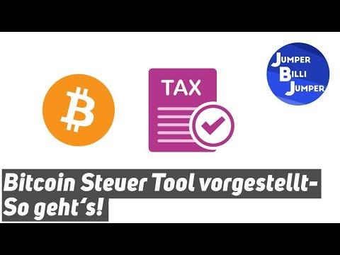 Bitcoin Steuer Tool vorgestellt - So gehts!