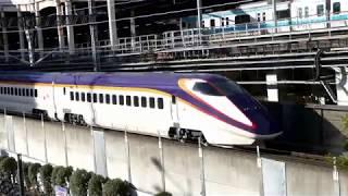 【JR東日本】秋葉原のマクドナルドから見える新幹線  つばさ129号  やまびこ129号
