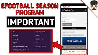 efootball season program point updates pes 2020 mobile