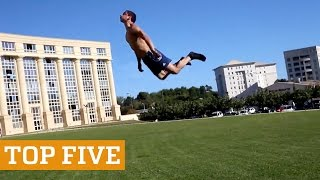 TOP FIVE: Tumbling, Wakeboarding & Slackline! | PEOPLE ARE AWESOME 2016
