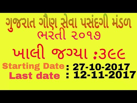 Ojas Government Gujarat Requirement 2017 | Full Details |