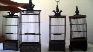 Jual Sangkar Burung Pleci Halus Corak, Segi 8, Motif Polos, Harga Eceran dan Grosiran