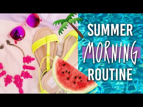 Summer Vacation Morning Routine ♡