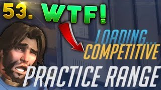 COMPETITIVE Practice Range??..WTF GLITCH?? | OVERWATCH Daily Moments Ep. 53