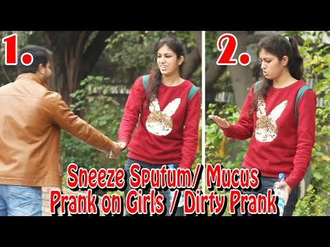 Dirty Sneeze Sputum/Mucus Prank on Public - (बलगम ) Best Prank Ever | THF - Ab Mauj Legi Dilli