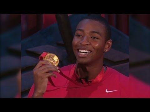 Olympics' Cullen Jones swims to Gold - YouTube