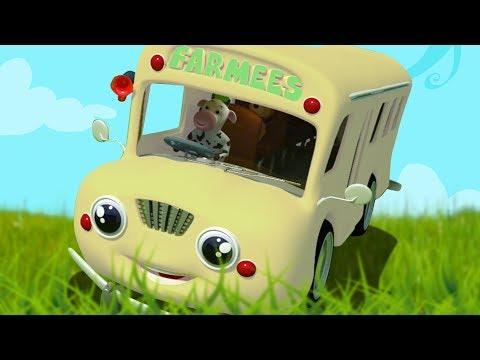 Räder auf dem Bus | Buslied für Kinder | Reime für Babys | deutsche Reime | Wheels On The Bus