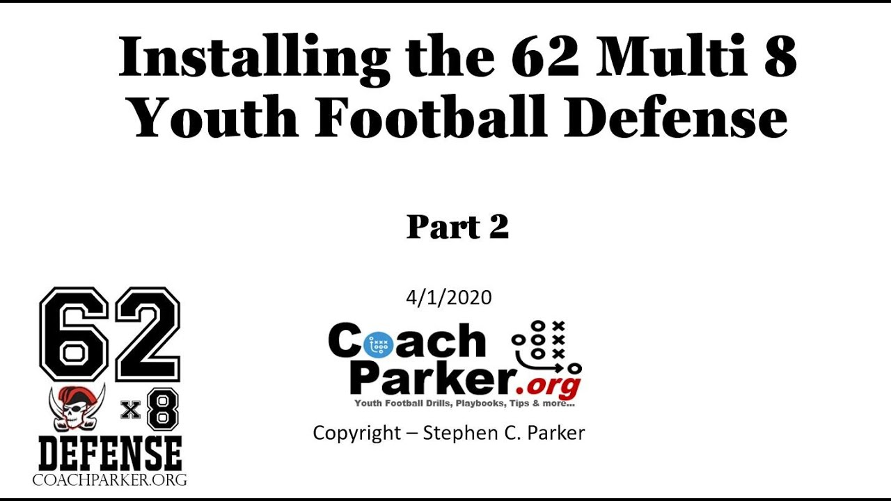 Installing A Youth Football Defense Coach Parker S 62 Multi 8
