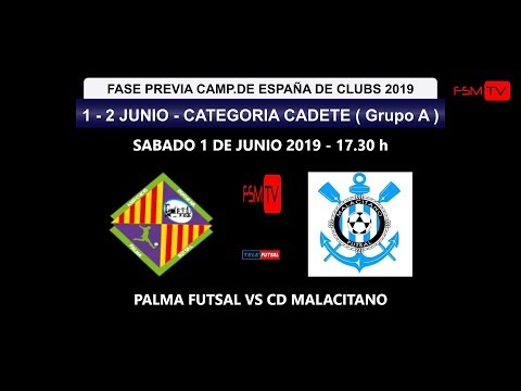 PREVIA CAMP.ESPAÑA CADETE GRUPO A-  PALMA FUTSAL VS CD MALACITANO 17.30