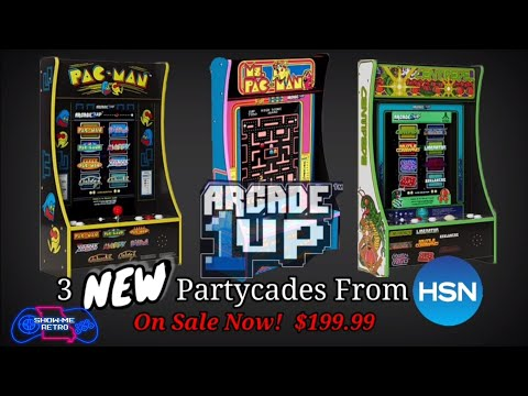 3 New Arcade1up 8 in 1 Partycades Available Now on HSN - PAC MAN, Ms. PACMAN & Centipede from Show-Me Retro