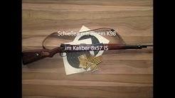 Schießen mit Karabier 98k Kaliber 8x57 IS