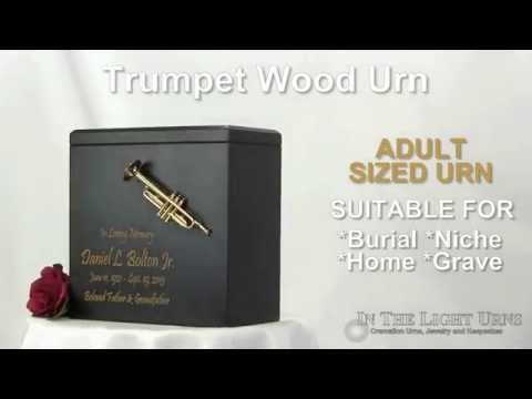 Trumpet Wood Urn for Ashes - (800) 757-3488 - In The Light Urns