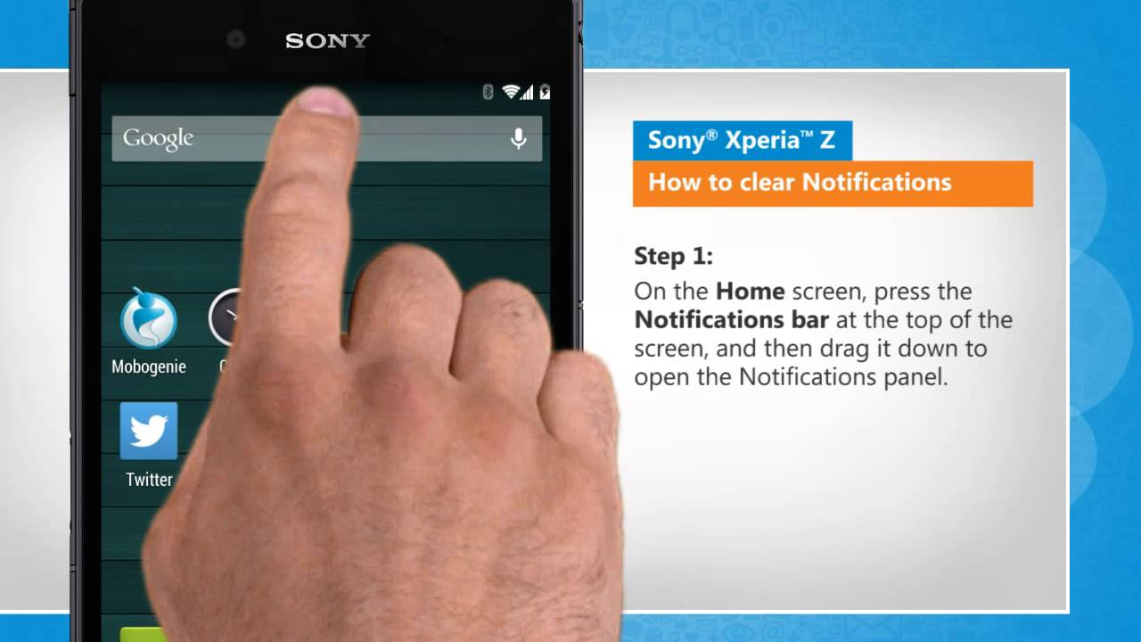 Clear Notifications Tray On Sony� Xperia™ Z
