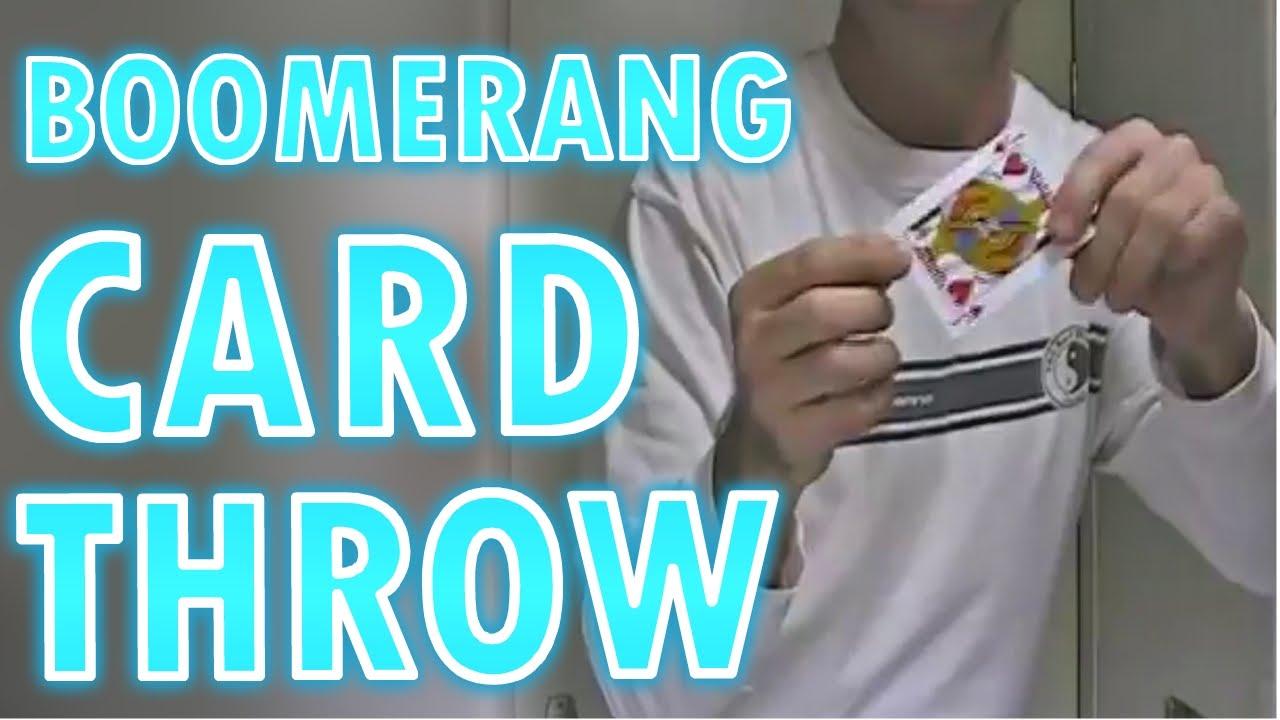 Boomerang card throw youtube boomerang card throw reheart Image collections
