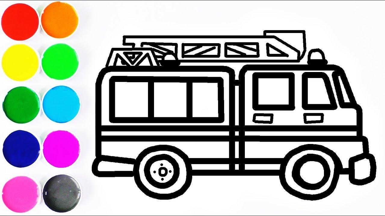 Dibuja Y Colorea Camión De Bomberos Videos Para Niños Learn