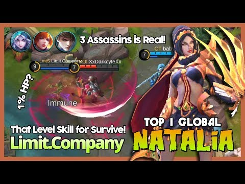 """Perfect Survive Skill Limit.Company Ranked 1 Global Natalia """"Your Carry Can't Farm?"""" ~ MLBB"""