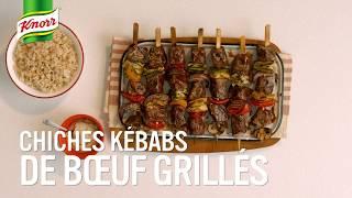 Chiches kébabs de bœuf grillés | Qu'est-ce qu'on mange Knorr®