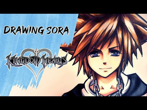 Drawing Sora Kingdom Hearts キングダム ハーツ Youtube